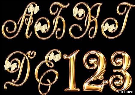 Золотой шрифт psd 19 10 золотой шрифт psd